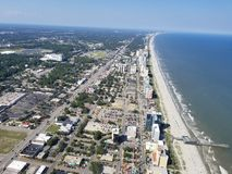 Opinião surpreendente da praia Foto de Stock Royalty Free