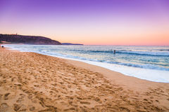 Opinião surpreendente do seascape do por do sol Imagem de Stock