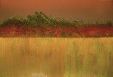 Opinião tirada mão da paisagem Fundo brilhante textured da natureza do Grunge fotografia de stock royalty free
