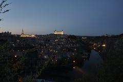 Opinião Toledo da noite Fotos de Stock