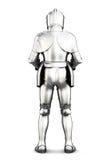 Opinião traseira da armadura isolada no fundo branco rendição 3d Imagens de Stock