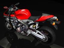 Opinião traseira da motocicleta do esporte Foto de Stock Royalty Free