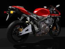 Opinião traseira da motocicleta do esporte Fotos de Stock Royalty Free
