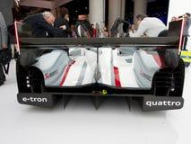 Opinião traseira de Audi e-Tron R18 Foto de Stock