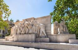 Opinião traseira de Lajos Kossuth Memorial Imagens de Stock