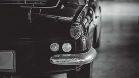 Opinião traseira do carro leve da cauda fotografia de stock royalty free