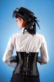 Opinião traseira a menina bonita Imagens de Stock Royalty Free