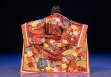 Opinião traseira a mulher do quimono fotos de stock