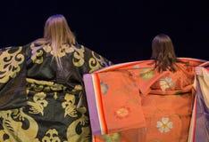Opinião traseira a mulher do quimono foto de stock royalty free