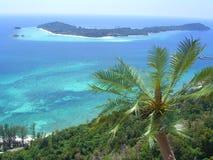 Opinião tropical do console Foto de Stock Royalty Free