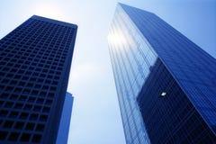 Opinião urbana dos bulidings da cidade da baixa de Dallas Fotos de Stock Royalty Free