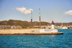 Opinião velha da cidade da Espanha baleárica de Ibiza do beira-mar Foto de Stock Royalty Free