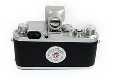 Opinião velha da parte traseira da câmera do Rangefinder Imagem de Stock Royalty Free