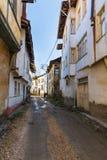 Opinião velha da rua da cidade de Tarakli que é um distrito histórico na província de Sakarya Imagem de Stock