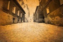 Opinião velha da rua do vintage Fotografia de Stock Royalty Free