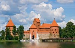Opinião velha do castelo Imagens de Stock