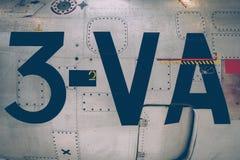 Opinião velha do close up da fuselagem do avião do vintage imagens de stock royalty free