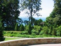 Opinião verde do parque Fotos de Stock Royalty Free