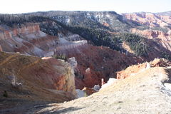Opinião vermelha do deserto da montanha Fotos de Stock Royalty Free