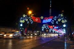 Opinião Vietnam da noite de Ho Chi Minh City Fotos de Stock Royalty Free