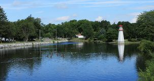 Opinião Wellington Park em Simcoe, Canadá 4K video estoque