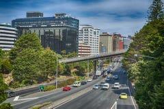 Opinião Wellington Urban Motorway Imagem de Stock Royalty Free