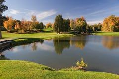 Opinión 09 del golf Imágenes de archivo libres de regalías