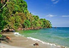 Opinión 2 de la playa Imágenes de archivo libres de regalías
