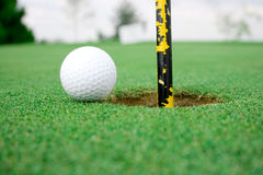 Opinión 2 de pelota de golf imágenes de archivo libres de regalías