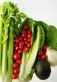 Opinión 3 de verduras frescas Imágenes de archivo libres de regalías