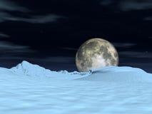 Opinión 5 de la luna ilustración del vector