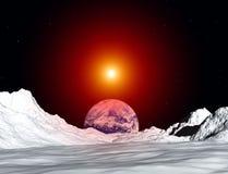 Opinión 50 de la luna Imagen de archivo libre de regalías
