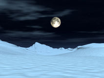 Opinión 6 de la luna Imagen de archivo libre de regalías