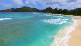 Opinión aérea Baie Lazare Beach, Mahe Island, Seychelles 8 metrajes