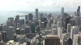 Opinión aérea céntrica de Chicago metrajes