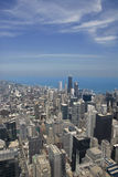 Opinión aérea céntrica de Chicago Imágenes de archivo libres de regalías