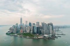 Opinión aérea céntrica de New York City Manhattan Fotografía de archivo libre de regalías