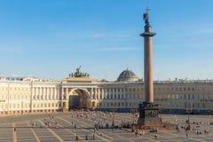 Opinión aérea cuadrada del palacio Imágenes de archivo libres de regalías