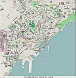 Opinión aérea de Alicante España Europa hola res libre illustration