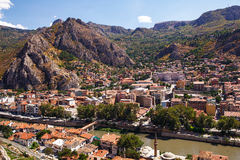 Opinión aérea de Amasya Imagen de archivo libre de regalías