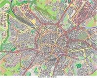 Opinión aérea de Aquisgrán Alemania Europa hola res stock de ilustración