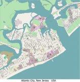 Opinión aérea de Atlantic City New Jersey hola res ilustración del vector