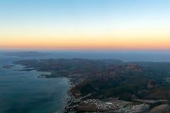 Opinión aérea de Baja California Sur México Imagen de archivo