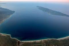 Opinión aérea de Baja California Sur México Fotografía de archivo libre de regalías