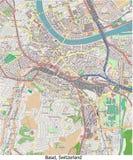 Opinión aérea de Basilea Suiza Europa hola res ilustración del vector