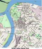 Opinión aérea de Belgrado Serbia Europa hola res ilustración del vector