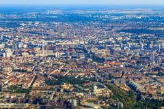 Opinión aérea de Berlín Fotografía de archivo libre de regalías
