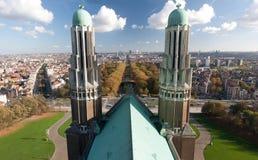 Opinión aérea de Bruselas Foto de archivo libre de regalías