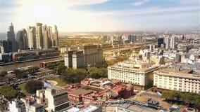 Opinión aérea de Buenos Aires almacen de video