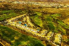 Opinión aérea de Canarias de Tenerife Foto de archivo